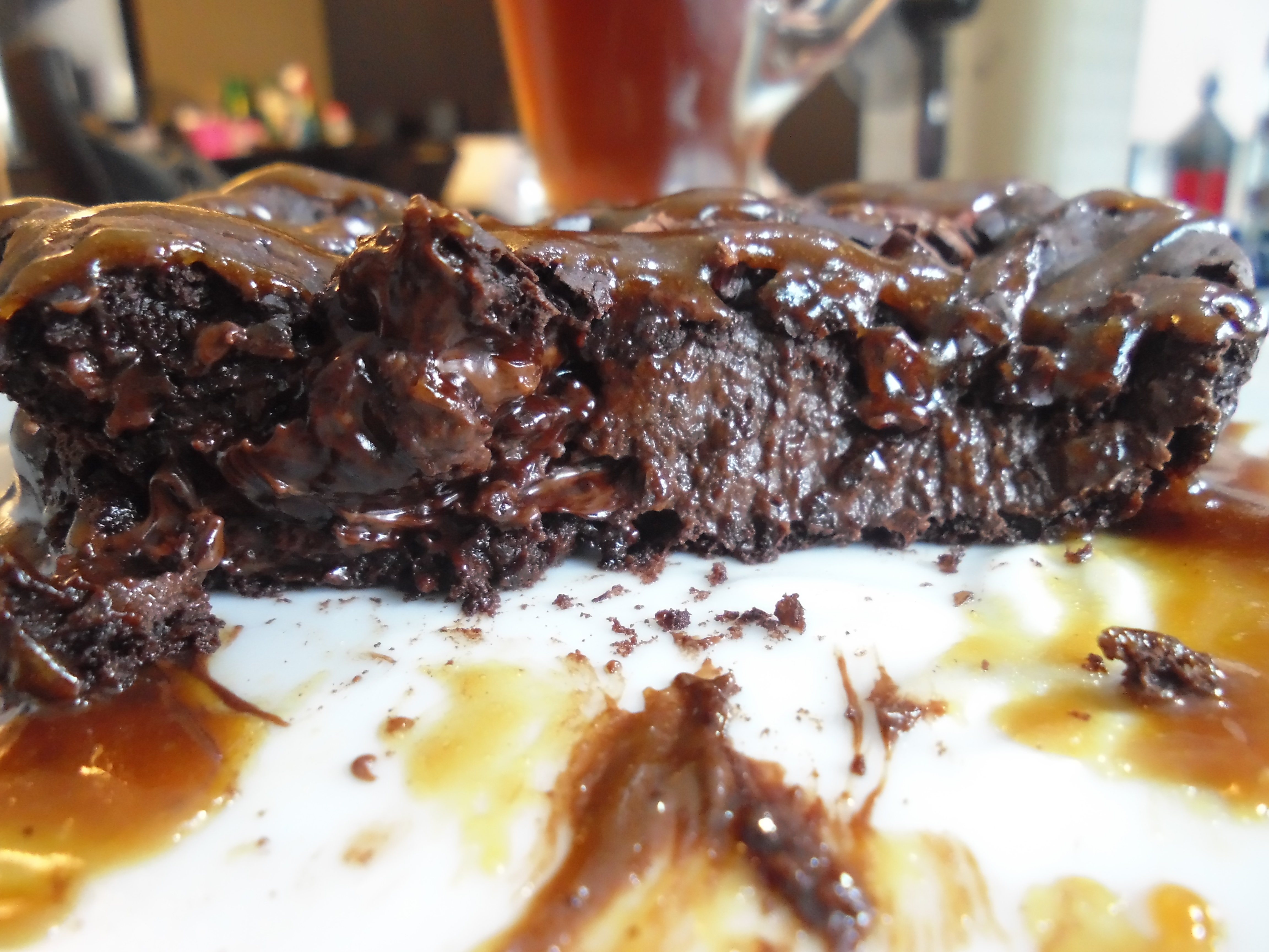 Chocolate pudding cake for one